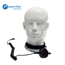 Military air conduit earpiece throat mic headset for Motorola Relm radio GP328plus GP338plus