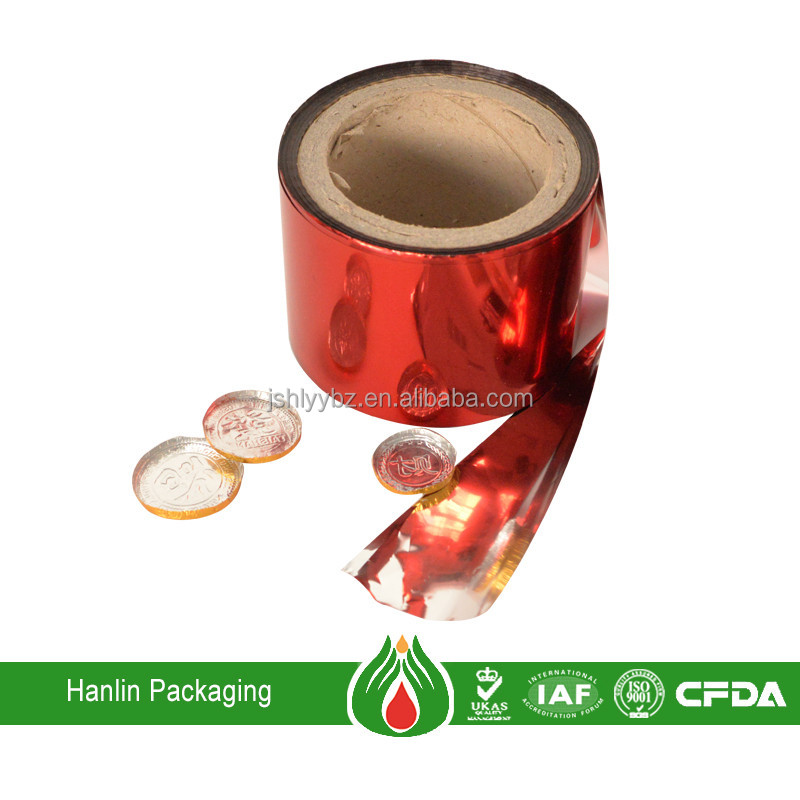 Food Use and Coated Treatment aluminum packaging foil for chocolate wrapping