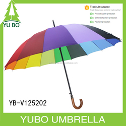 "25"" *16K advertising rainbow color straight umbrella from china big umbrella factory"