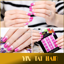 9 Styles Fashion Polish Nail Art Decals Adhesive Manicure Stickers Foils Wraps