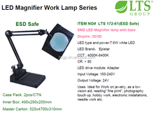 Lamp for inspection;; with floor standing; 5Diopter LED Magnifier lamp