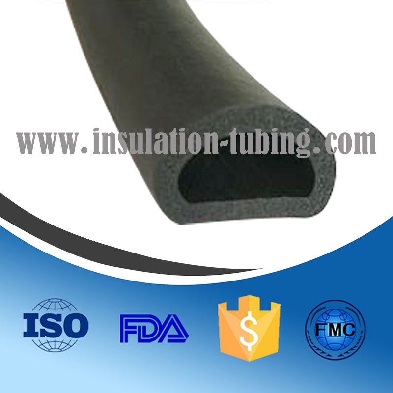 D-shaped EPDM Sponge Rubber Seal adhesive for RV