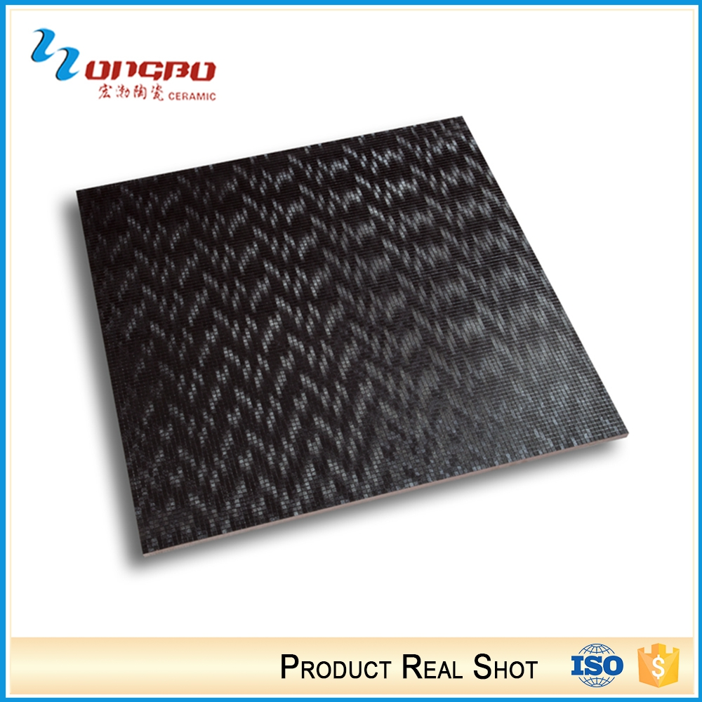 Building Material Ceramic Kitchen Black And Orange Garage Floor Tiles