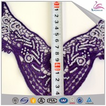 Recyclable beaded collar special designer lace applique