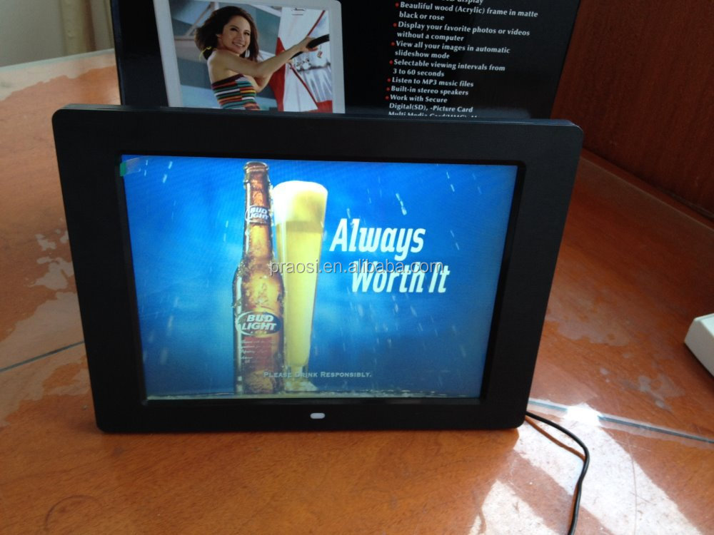 led panel 12 inch hd advertising digital photo frame indoor