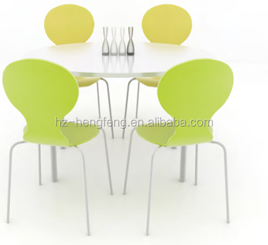 modern heavy-duty restaurant dining round table and chairs set