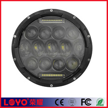 newest design 7 inch Round DRL 75w led headlight projector lens for Jeep