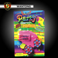 Birthday decoration party popper funny gun bullets toy fireworks
