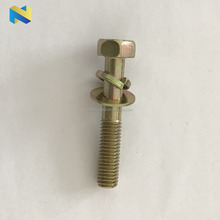 M8 cross recessed hexagon bolt with flat and spring washer