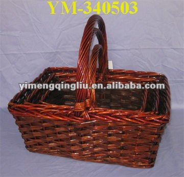 brown large willow basket home decoration with free sample