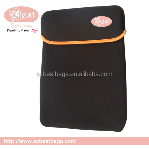custom printed neoprene laptop sleeve without zipper