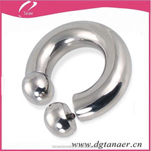 Stainless steel ball closure piercing for internally threaded nose studs