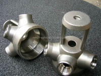 Investment casting stainless steel mechanical spare parts/tool parts with threaded connection