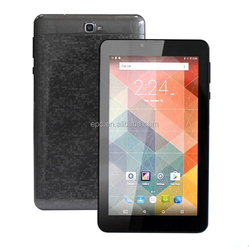 7 inch cheap Tablet with sim card slot MTK Quad Core 1GB RAM 8GB ROM Android 5.1 OS IPS