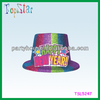 2015 Novelties Happy New Year PVC Top Hat