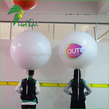 Popular Inflatable Backpack LED Balloon / Advertising Moving balloon For Events