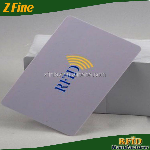 Z-fine Preprinted RFID Parking Card/Classic 1k Business Card with Offset Printing