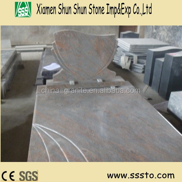 Manufacturer European Style Multicolor Red Granite Monument/Tombstone