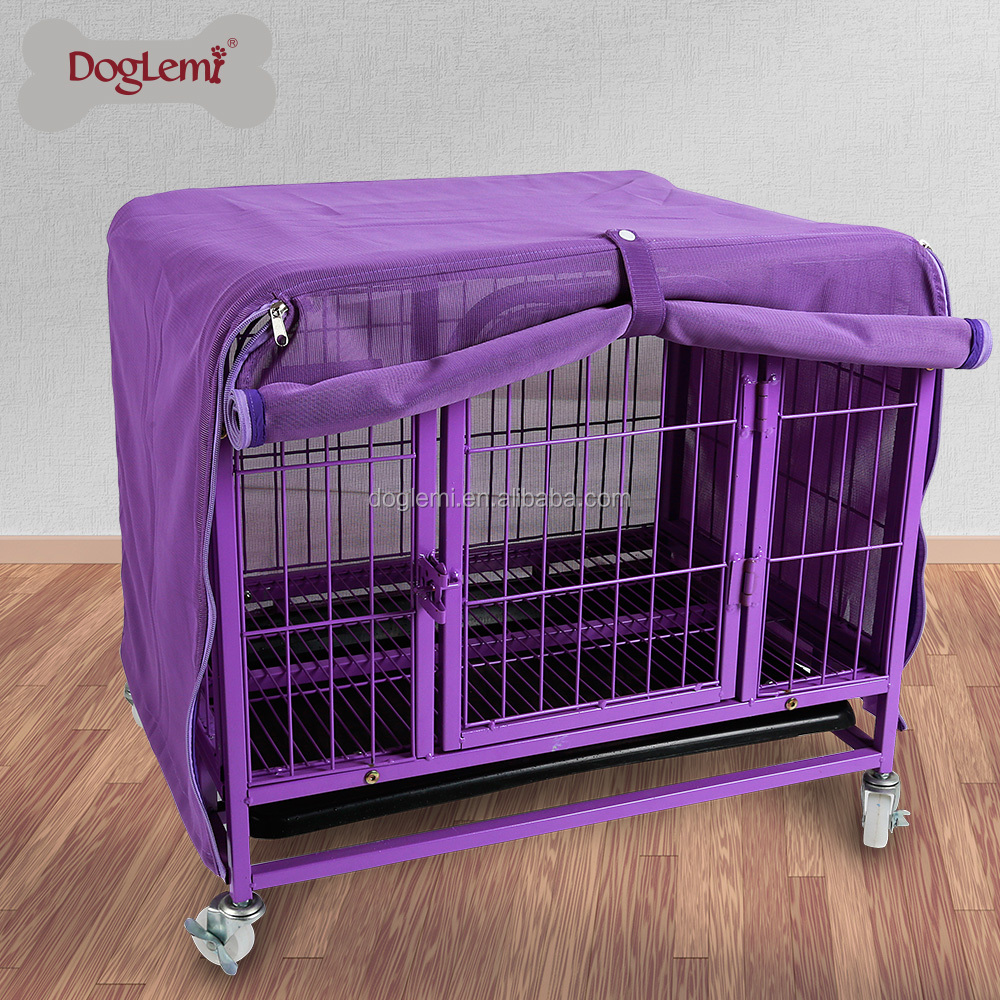 Pet Cage Cover Breathable Mosquito Net Dog Crate Kennel Covers