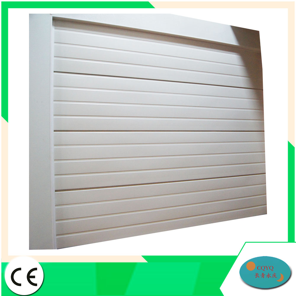 Fold automatic single layer garage door panel