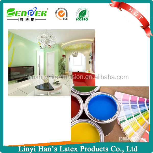 environmentally friendly acrylic polymer emulsion for Superior exterior and interior paints