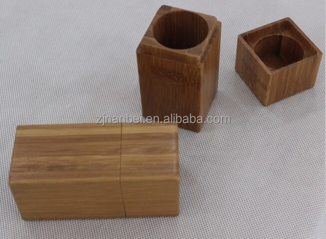 Accept custom square single bottle wooden essential oil packaging box