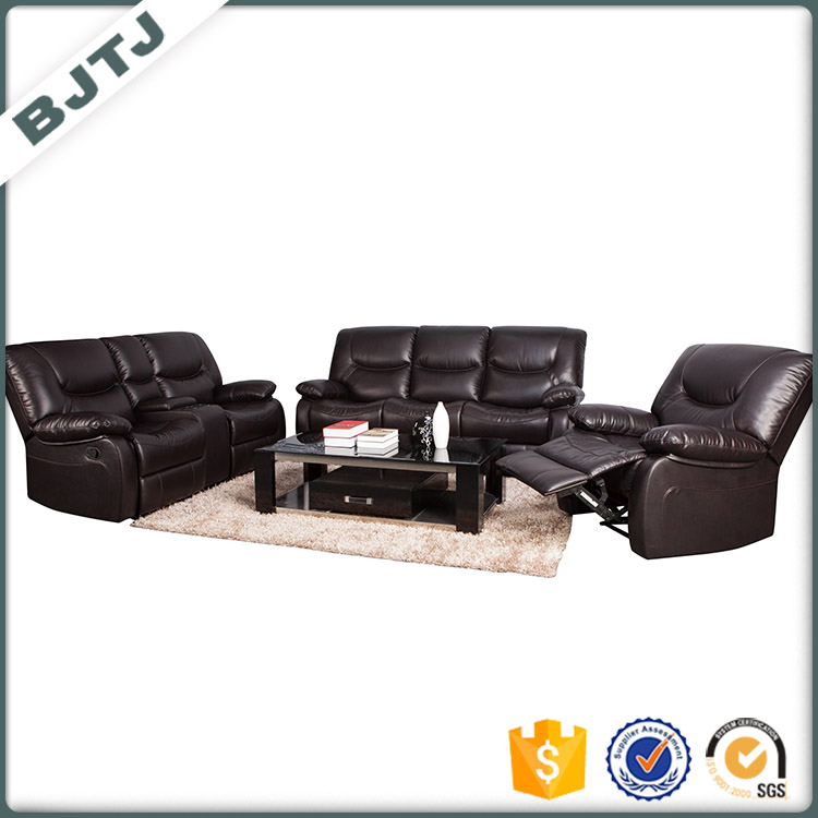 BJTJ Staff office recliner modern sofa set luxury cowhide leather furniture 70613