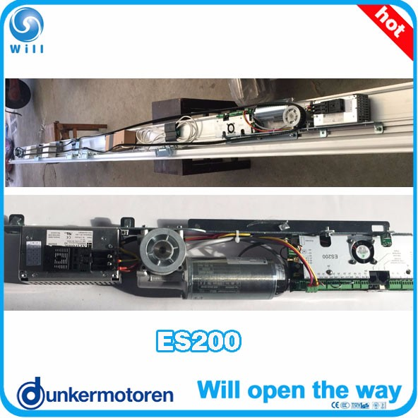 Automatic glass sliding door with dunker motor ES200