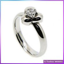 New Arrival Original Design Three Leaf Wedding Ring Stainless Steel Ring