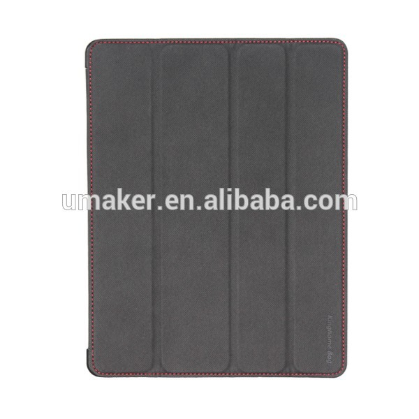 New Arrivel folding smart cover leather case for ipad3/4,For Ipad4 Case