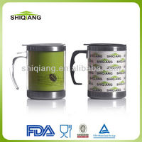 China suppliers 14oz stainless steel inner plastic outer temperature color changing travel mugs and cups