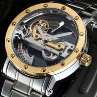 ESS Full Skeleton Automatic Mechanical Watch for Men's Wrist Watch Luxury Stainless Steel Watches Mens OEM WM445