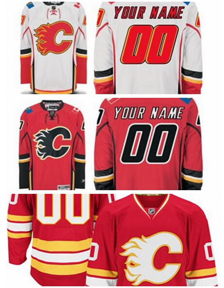 Anthentic #13 Johnny Gaudreau Calgary Flames jersey Hockey Jerseys Cheap Jersey White Red 100% Stitched