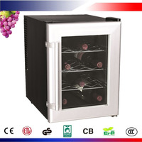 12 Bottles Electric Wine Cooler with Adjustable Thermostat CW-33AB