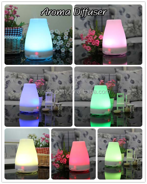 Amazon Maket popular Essential Oil Diffuser Mini Aroma Diffuser with change color LED Lamps for Home, Office,Bedroom Room& more