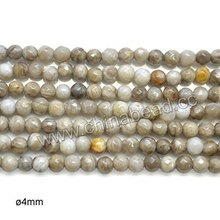 Natural semi-precious silver leaf jasper beads 4mm faceted gemstone beads