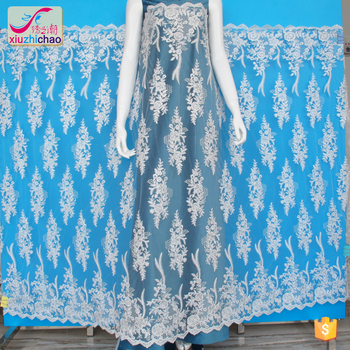 XM0137 embroidery tulle fabric lace fabrics fancy design african lace embroidery fabric