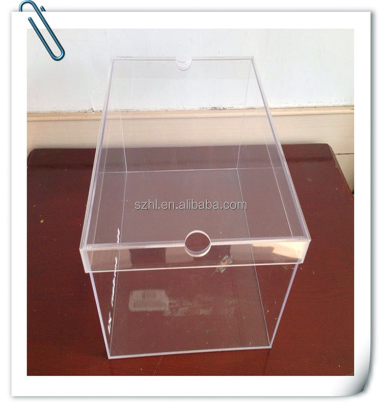 clear plastic shoe box with drawe