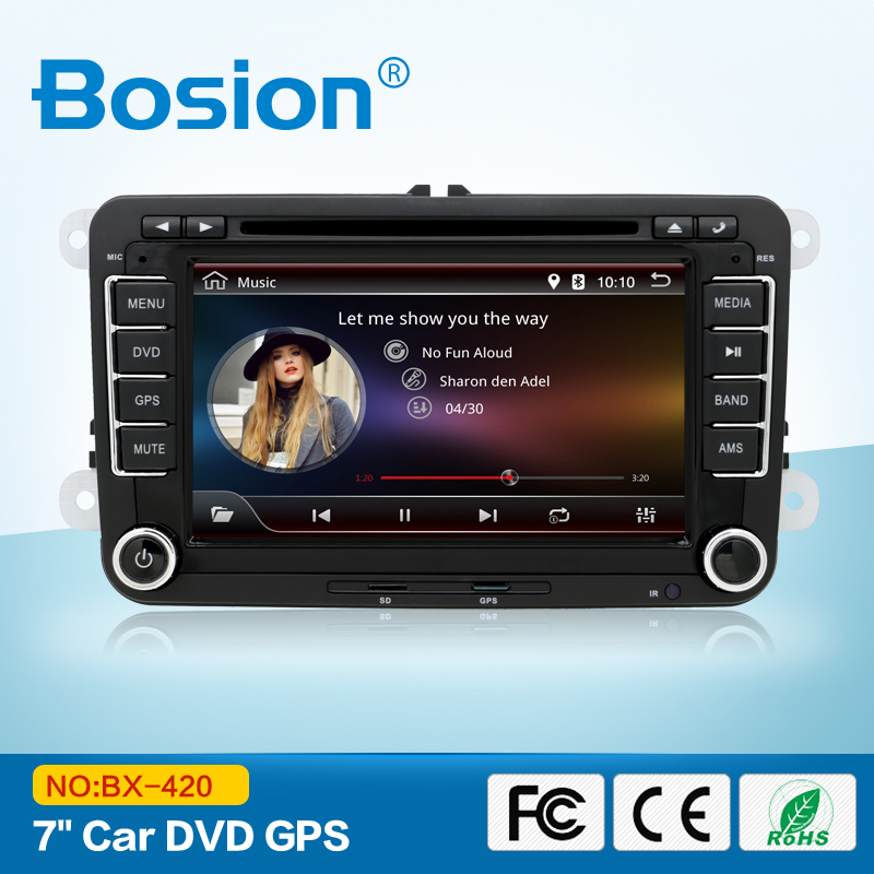 "Android 4.4 Kitkat OS 7"" 2DIN Car DVD Player GPS Radio Stereo Wifi for VW+Camera"