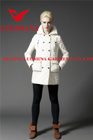Big fur collar winters double breasted women coats