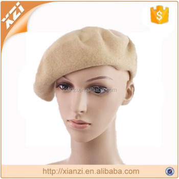Hot sale pure wool hat beret hat for ladies