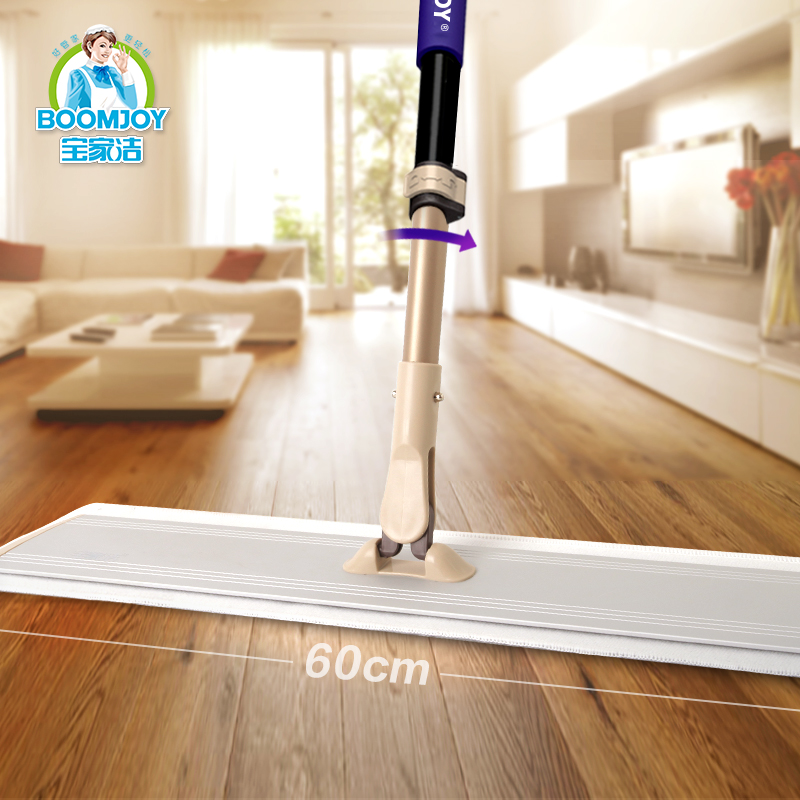 Magic 360 swivel microfiber flat mop with telescopic mop handle/ 60cm wide light aluminum panel mop for time and labor saving