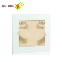 Baby memory handprint plaster kit with high quality frame