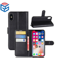 Premium PU Leather Flip Wallet Card Holder Cover Case For Iphone X