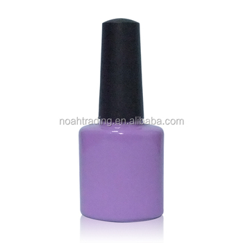 purple oblate small nail polish bottle