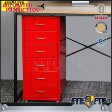 Under desk red helmer drawer chest mobile thin 6 drawers cabinet