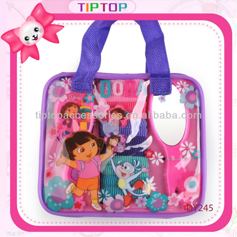 2015 dora nickelodeon kknekki hair elastic bands and mirror with bag