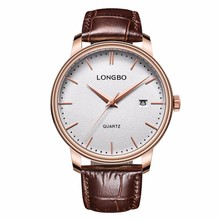 LongBo Latest Italian brown strap Watches,Business Furitime Wrist Mens Watches