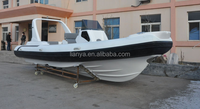 Liya 24.6feet 250hp military surplus inflatable boat rubber fishing boat military boat