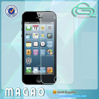 9h hardness mobile phone protection film for iphone 5, lcd anti-fingerprint screen protector for iphone 5